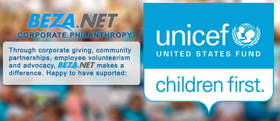 BEZA.NET is happy to support the great work of UNICEF