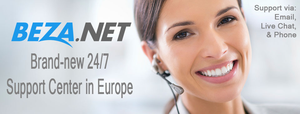 Brand-new Support Center in Europe