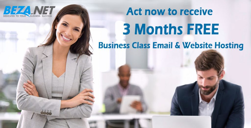 Act now to receive 3 months of FREE Email & Website Hosting