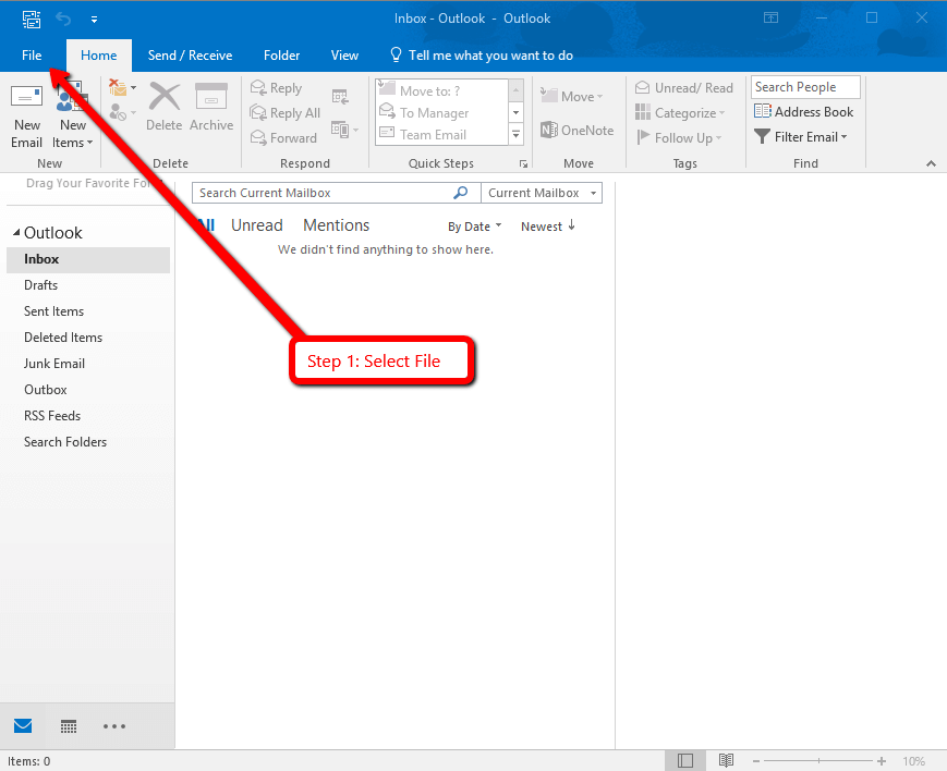 Setup Your Email in MS Outlook 2016   BEZA.NET