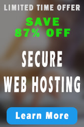 Save up to 87% off on Secure Web Hosting